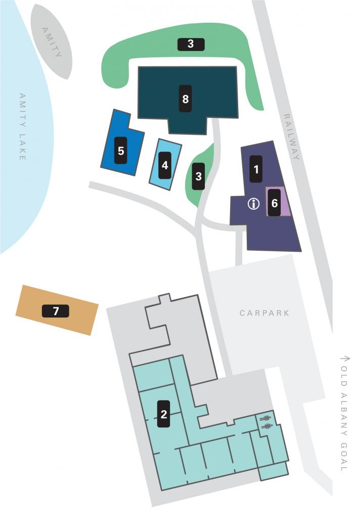 Site Map for the Museum of the Great Southern