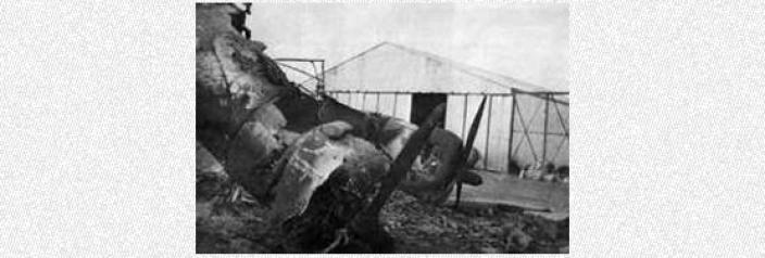 Crashed plane from World War Two battle