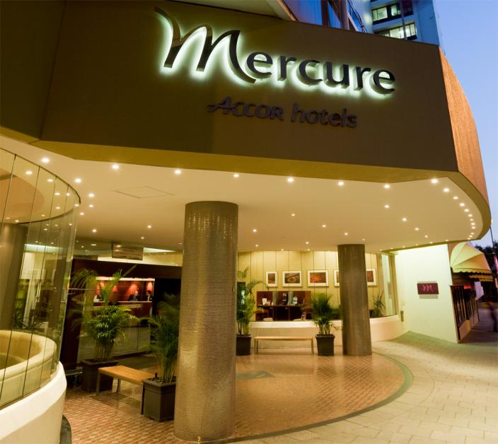 Lobby of the Mecure Hotel in Perth