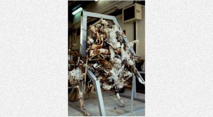 An engine covered in concretions