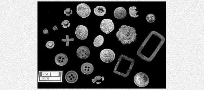 An assemblage of steel artefacts recovered from Quion Bluff