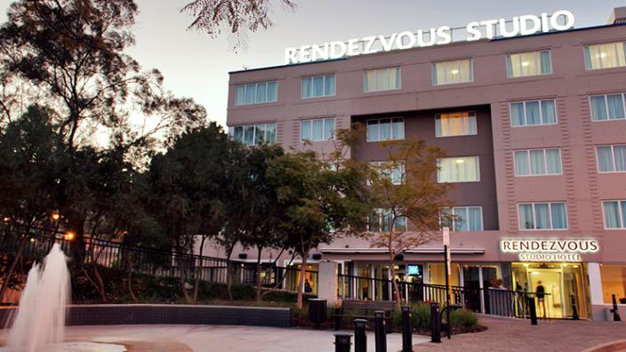 External view of the Rendezvous Studio Hotel in Perth