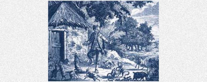 Drawing of Alexander Selkirk
