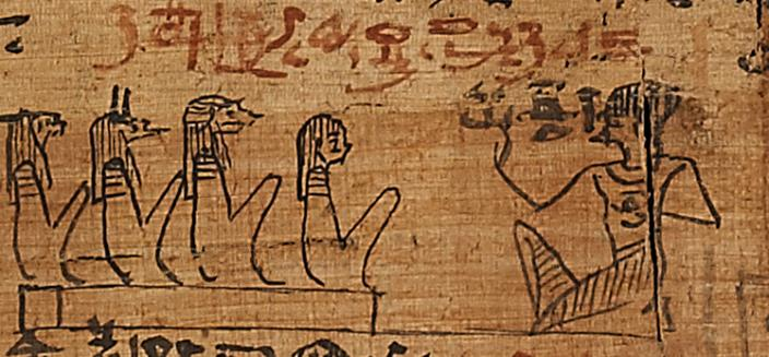 Ancient Egyptian Papyrus depicting a spell