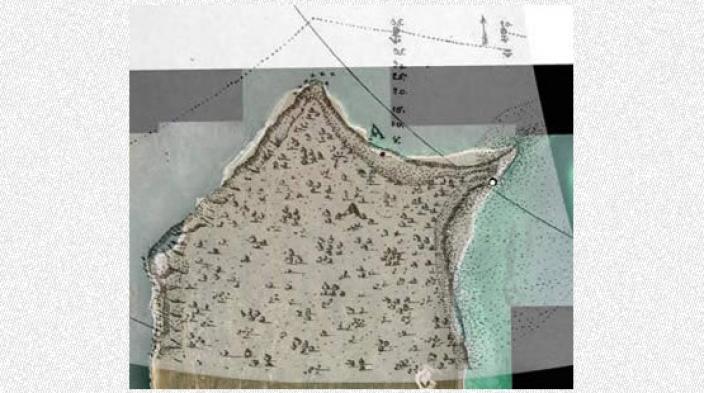 Map depicting features of Dirt Hartog Island
