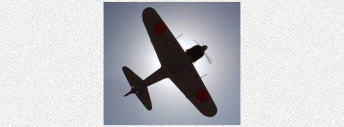 A fighter plane in full flight