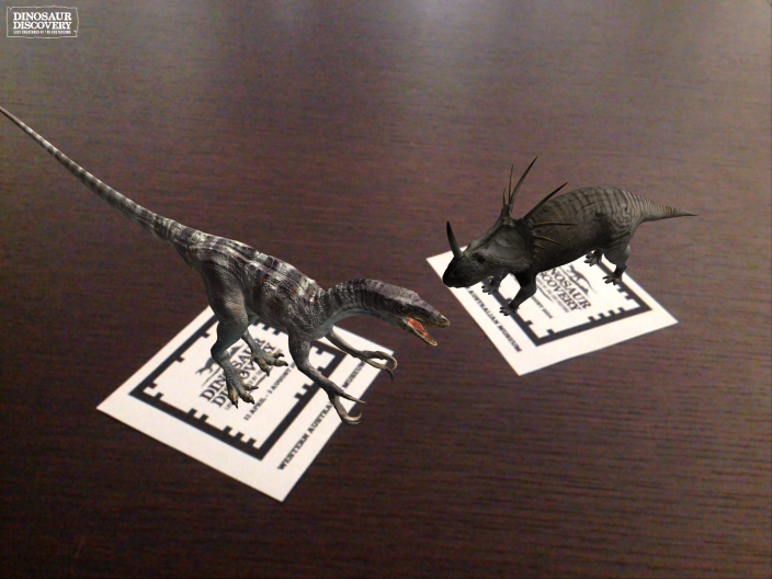Dinosaurs coming to life on the markers