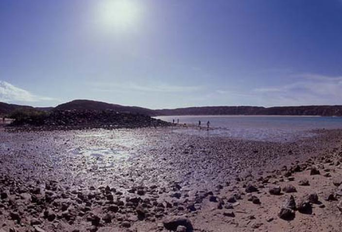 Image of the rocky shores of the Dampier Archipelago.