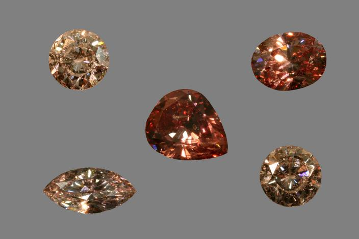 Image of pink diamonds from Western Australia