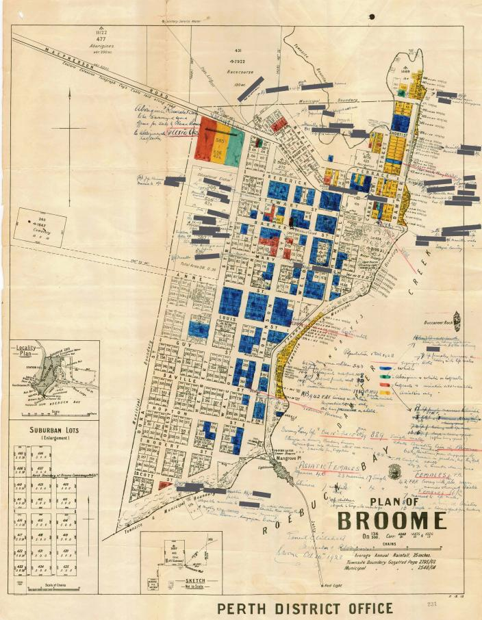 Image of a map of Broome.