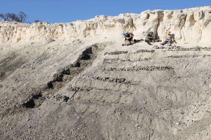 Image of an excavation site north of Kalbarri, WA.