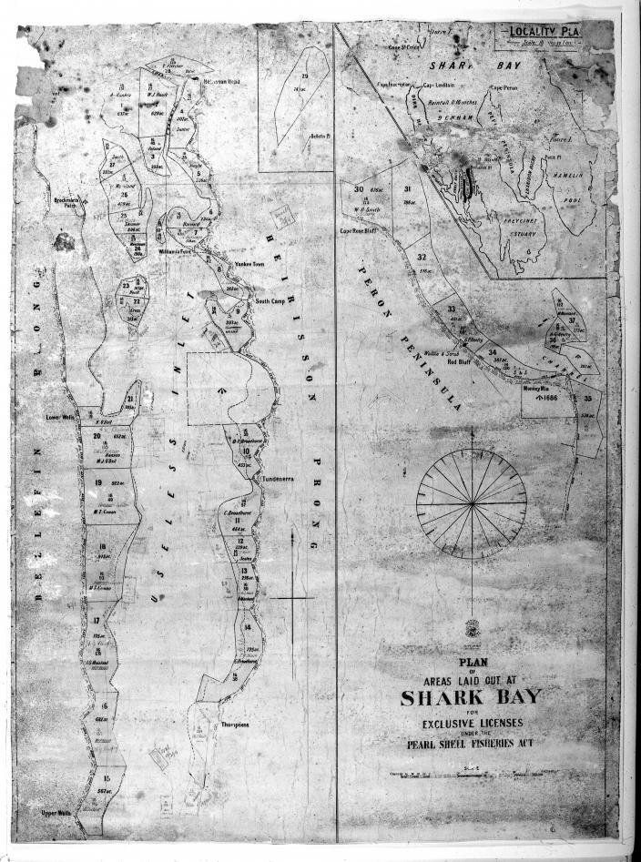 Image of a plan of Shark Bay area
