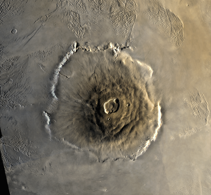 Olympus Mons is a large volcano on the planet Mars.