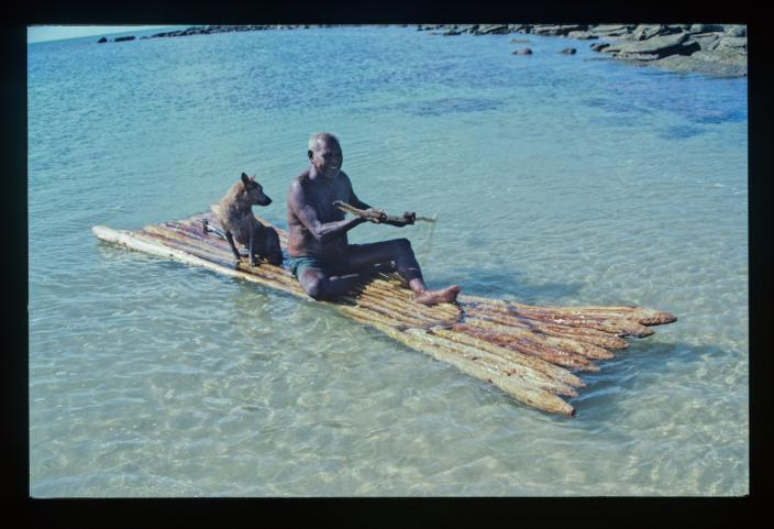 Image of a man on a raft