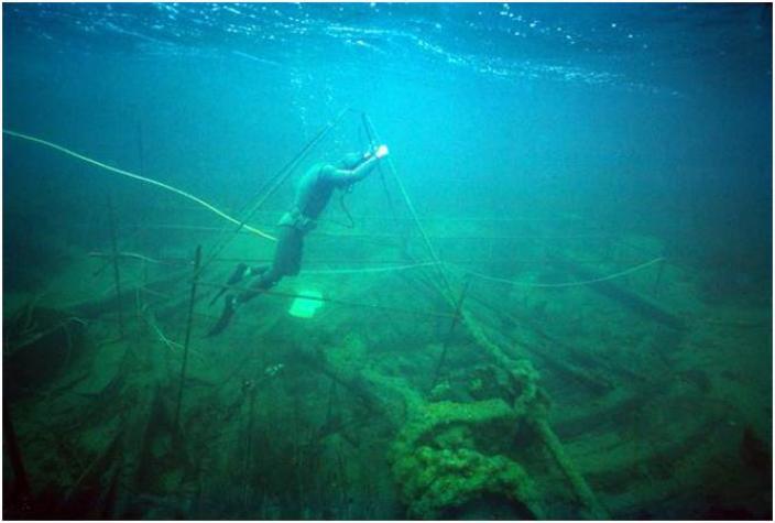 Image of diver underwater