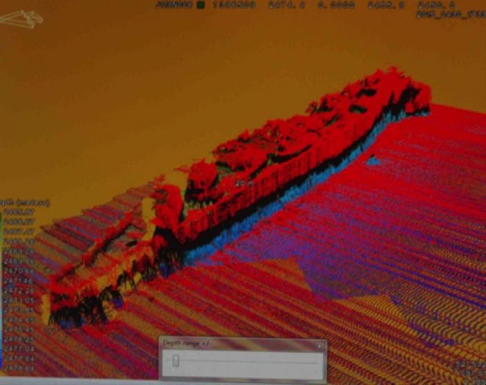 Processing the data  Multi-Beam image of HMAS Sydney wreck