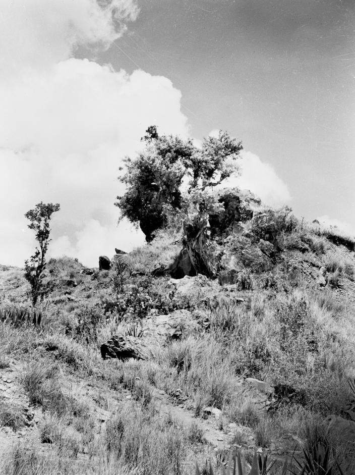 A rocky outcrop used as an observation post during the Japanese occupation of Bo