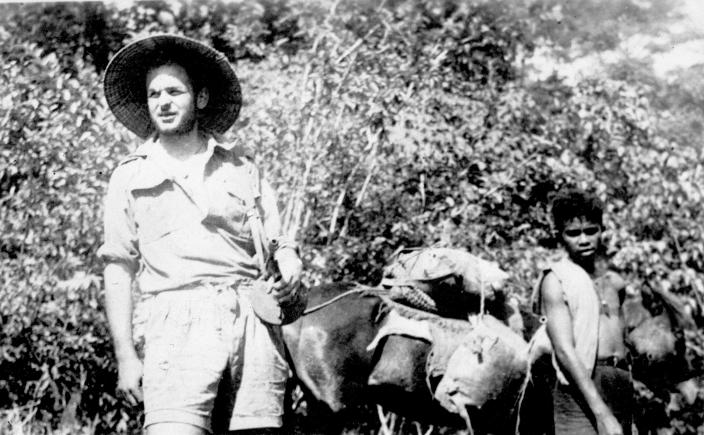 Lieutenant (Lt) Rex Lipman of the 2/4th and his criado Letmo with a Timor pony