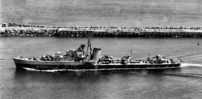 The Royal Netherlands Navy destroyer Tjerk Hiddes, seen here entering Fremantle