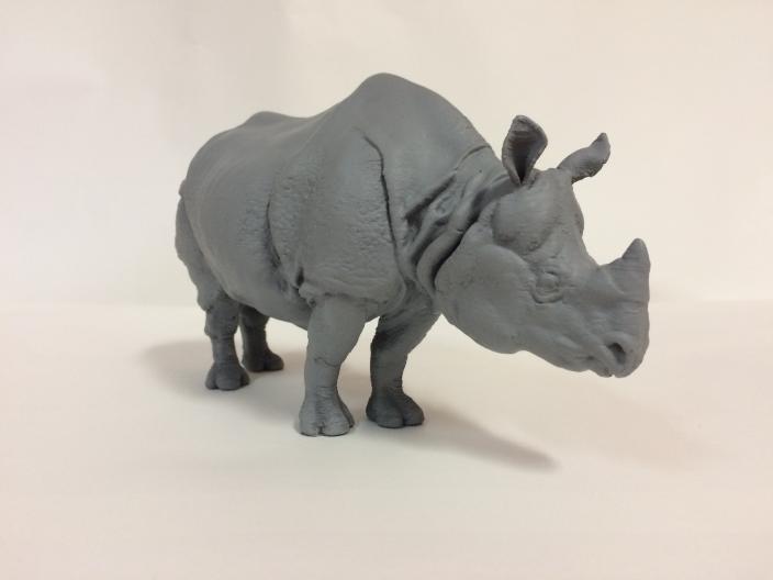 3D Printed Indian Rhino