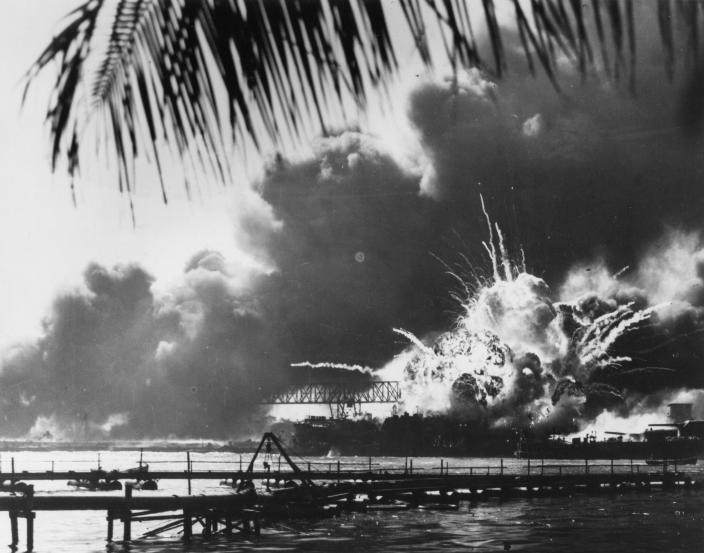 The Japanese attack on Pearl Harbour 7 December 1941.