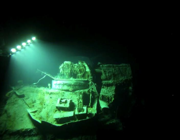 ROV arriving at HMAS Sydney