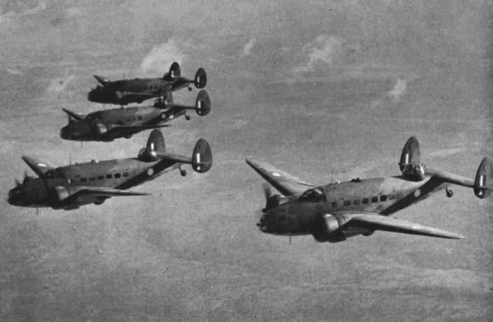 RAAF Hudson bombers of No 2 and 13 Squadrons were better suited to bombing targe