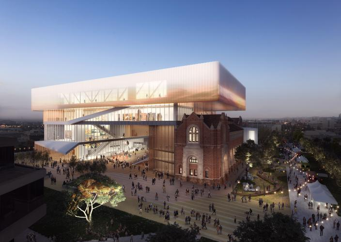 Concept design image of the New Museum