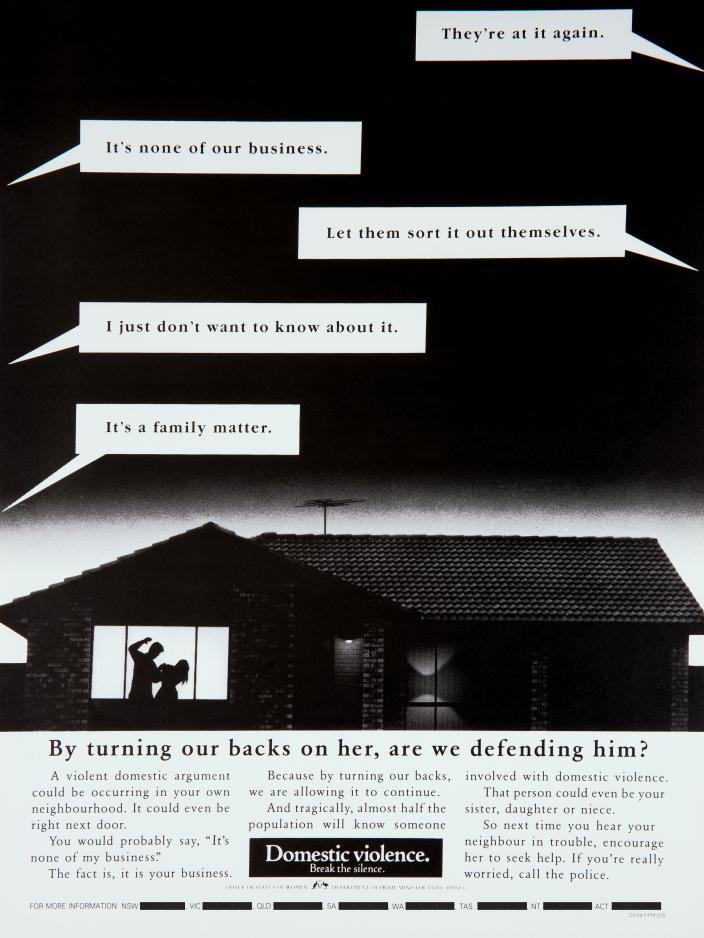 featerues a man in a home striking a woman