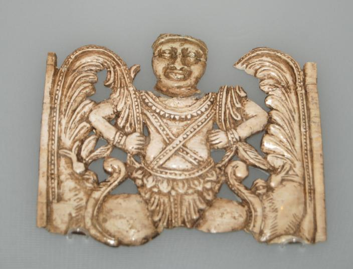 Image of a fantastic creature and makaras, 1st Century A.D.