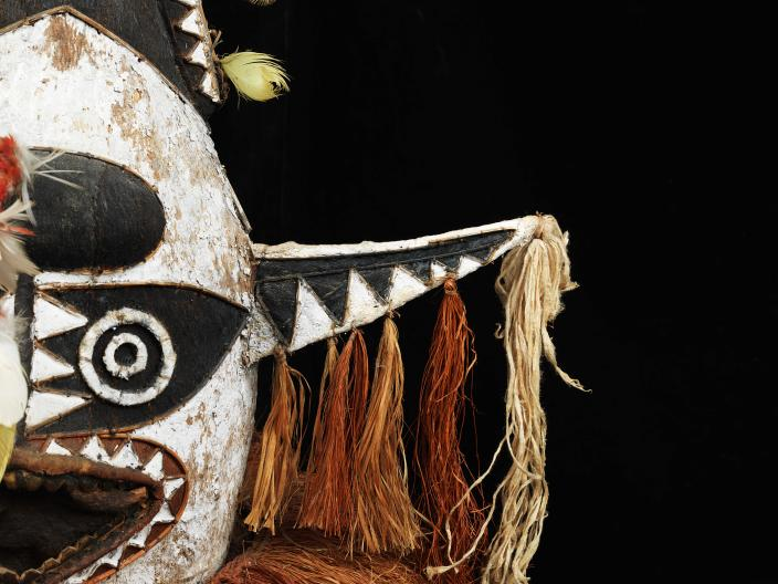 Eharo Mask, donated by Mr Kevin Lock. Collected from the Orokolo Bay Region, PNG