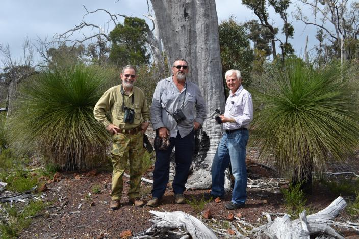Ornithologists researching cockatoos in the bush