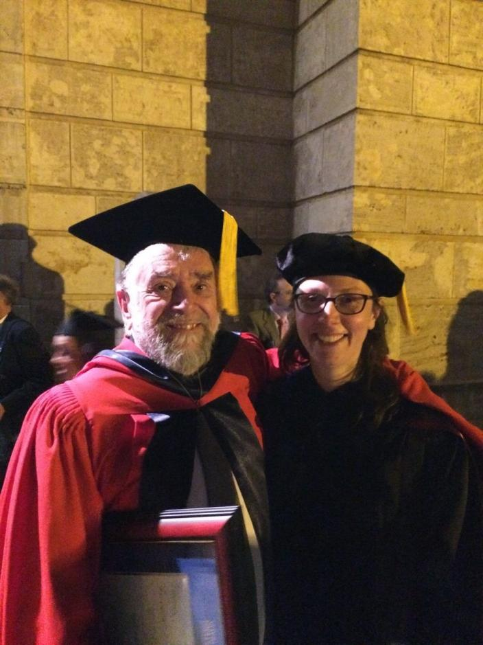 Dr Jeremy Green and Wendy Van Duivenvoorde after the graduation ceremony.