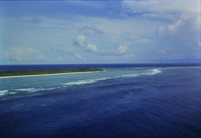 Image of an atoll in the ocean
