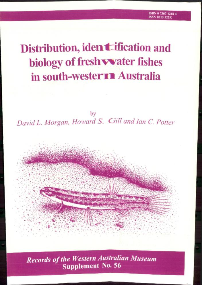 Distribution Identification And Biology Of Freshwater Fishes In South Western Australia Western Australian Museum