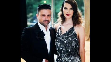 Aurelio Costarella and Grace Woodroofe posing together in the WA Museum foyer