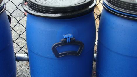 Large plastic drums
