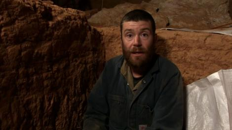 A scientist working deep in a Nullarbor cave