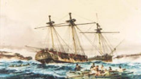 Artwork of the HMS Success by local Maritime Artist, Ross Shardlow
