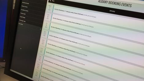 Photo of the WAM Tickets user interface running on a computer