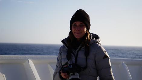 Paige Maroni, on the RV Investigator (2020)