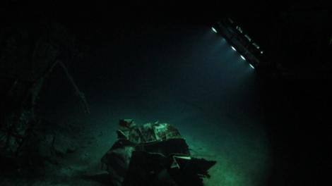 ROV scanning the HMAS Sydney (II) wreck