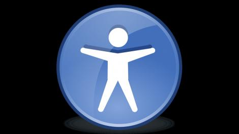 Gnome's accessibility icon, showing a person with outstretched hands