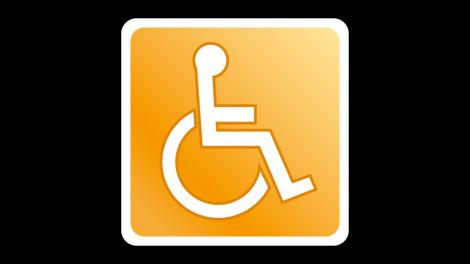 Disabled wheelchair access icon