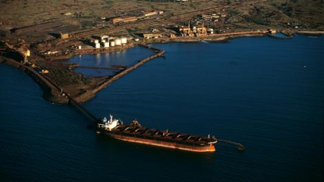 Aerial view of the Dampier port