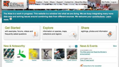 Screen grab of the ALA homepage