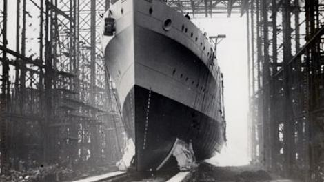 Launch of the HMAS Sydney (II), 22 September 1934
