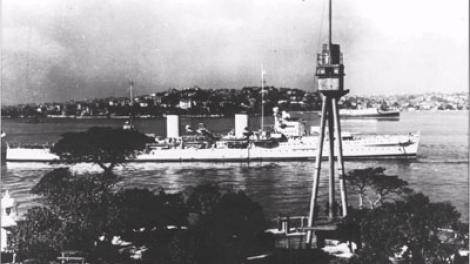 HMAS Sydney (II) starboard side view