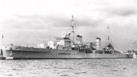 HMAS Sydney (II) in Perth, Western Australia