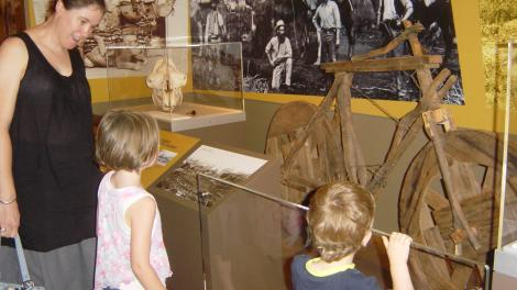 Visitors at the Museum of the Goldfields